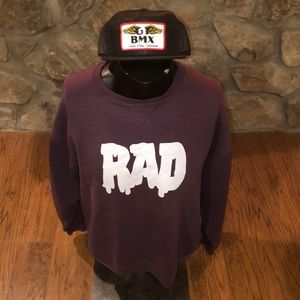 Vintage Russell Drippy RAD sweatshirt. No tag.L/XL
